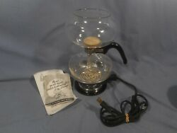 Vintage Vacuum Silex Ds-8b Stove And Glass Coffee Maker
