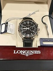 Longines Heritage Military 1938 Steel Chrono Black Dial Mens Watch L2.790.453.0