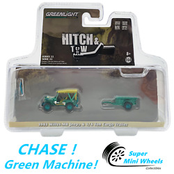 Chase Green Machine 1/64 Hitch And Tow 1943 Willys Mb Jeep And Trailer