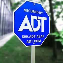 28 Adt Signadt Security Signs 6 Double Sided Stickers Metal Yard Sign Stake