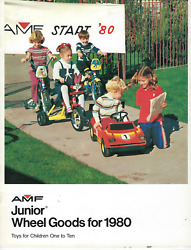 Amf Junior Wheel Goods 1980 Dealer Catalog • Pedal Cars, Trikes, Punched