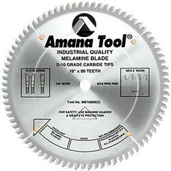 Amana Plywood Melamine And Laminate Saw Blade Mb10800-30 For Panel Saw 30mm Bore