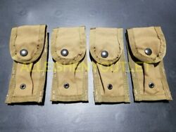 Lot Of 4 - Us Military Molle 9mm Single Magazine Pouch Coyote Brown Camo New