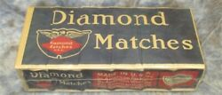 Nos Sealed Package 6 Boxes Diamond Matches Made America Vintage Pyromania,