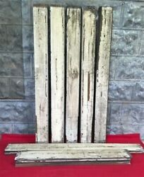 Reclaimed Wainscoting Bead Board Pieces Architectural Salvage Vintage A17