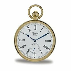 Vintage Pocket Watch With Chain By - Classic Oxford Open Face Pocket Gold