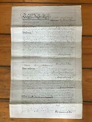 1906 Deed Discharge Of Equitable Mortgage On Thick Paper