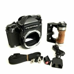[n Mint] Pentax 67 Late Model Body Ttl Finder W /grip Strap Extension Cable F/s
