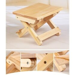New Antique Folding Step Stool Bench Chair For Kids Adults Furniture Durable