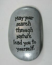 Qqt May Your Search Thru Nature Lead You To Yourself Pocket Token Thumb Stone