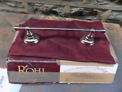 Rohl A1483cpn 12 Inch Country Crystal Towel Bar Polished Nickel Never Used
