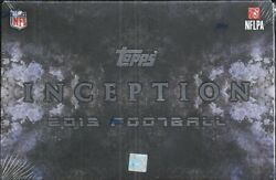 2013 Topps Inception Factory Sealed Football Hobby Box Leand039veon Bell Rc