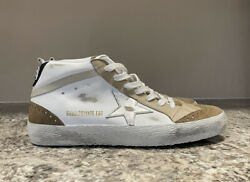 Golden Goose Womenandrsquos Mid Star Sneakers White / Tan Size 40 / 10 Us New Sold Out
