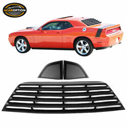Fits 08-21 Challenger Xe Style Rear Window Louver And Quarter Side Scoop