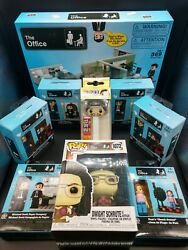 The Office Buildable Set Phat Mojo With Funko Pop And Pez Bonus.