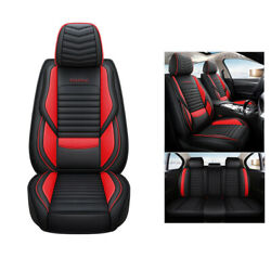 5-seat Car Seat Cover Protector+cushion Full Set Pu Leather Interior For Eclipse