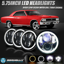 4pcs 5.75 5-3/4 Led Dot Headlights High Low Beam Drl Turn Angel Eyes For Ford