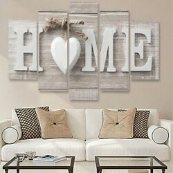 5PCS Concise Decorative Painting Fashion Paintings Home Letter Print Wall Art