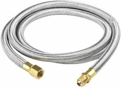 6ft Stainless Steel Propane Extension Hose - 38 In Male X Female Flare Fittings