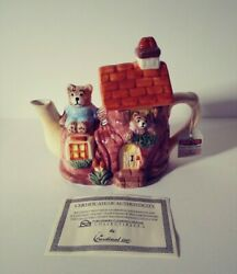 Vintage Tee Nee By Cardinal - Bears In A Shoe House Collectible Tea Pot