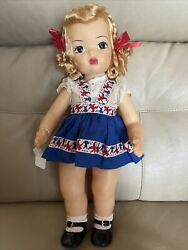 Terri Lee Blonde Doll 1950and039s In Bunny And Bear Trim Outfit