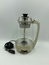 Vintage Proctor Silex Glass Electric Coffee Percolator Model 73021 12 Cup