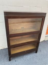 Antique Globe Wernicke Stacking Barrister Lawyers Sectional Bookcase