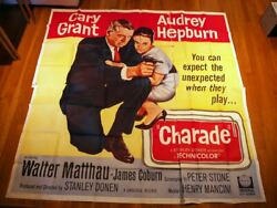 Charade 1963 9464 Movie Poster Large Format Six Sheet Audrey Hepburn Cary