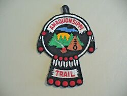 Boy Scouts - Amaquonsippi Trail Button Hanging Patch - Vintage And Rare