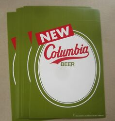 Wholesale Lot Of 10 Old Vintage - New - Columbia Beer - Price Signs - Carling