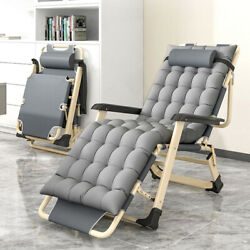 Zero Gravity Chair Folding Lounge Chair Padded Reclining Chair Patio Andcup Holder