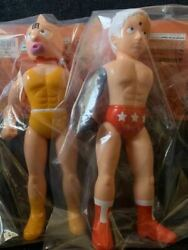 Set Of Medicom Toy Kin Meat Man Yellow Tank Top Terry Mann Loss Arms The Machine