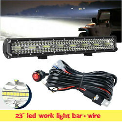 23inch 144w Led Light Bar Spot Flood Work Lamp Pods Ute Offroad 4wd + Wiring