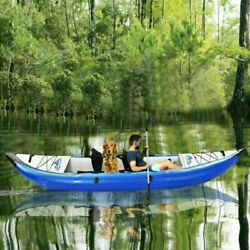 New Kayak Inflatable Fishing Rowing Boat Raft Canoe Set With Paddle And Air Pump