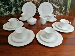 Villeroy And Boch Bone China Arco White - 20 Piece Coffee Service For 6 People