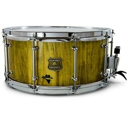 Outlaw Drums Bandit Series Snare Drum W/chrome Hardware 14 X 6.5 Yeehaw Yellow