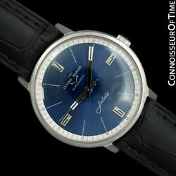 1960and039s Ulysse Nardin Vintage Mens Automatic Ss Steel Watch - Mint With Warranty