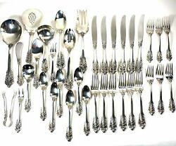 Wallace Grand Baroque Sterling Silver 6 Piece Place Setting With Serving Pieces