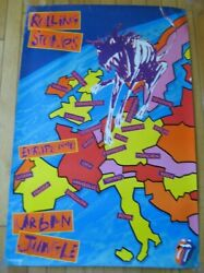 The Rolling Stones 1990 Europe Tour Poster Official Urban Jungle Live