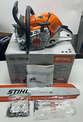Stihl Ms500i Fuel Injected Chainsaw W/ 32 Es Bar And Chain- Brand New