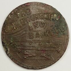 The J.m. Brunswick And Balke Co. Trade Token. C.l. 5 Cents. 133967