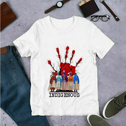 Red Hand Movement Native American Indigenous People T Shirt S-5xl White