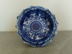 C.19th - Antique Chinese Blue And White Porcelain Small Footed Bowl