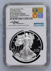 2016 Ngc Pf-70 Ultra Cameo Lettered Edge Early Releases Eagle 30th Anniversary