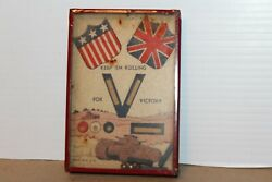 Vintage 1940's Keep Em Rolling For Victory Dexterity Puzzle Game