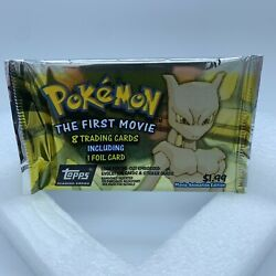 Sealed Topps Pokemon The First Movie Trading Cards 1998 Foil Pack