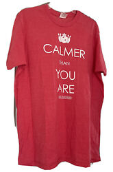 The Big Lebowski Bowling Red T-shirt Size Large Calmer Than You Are