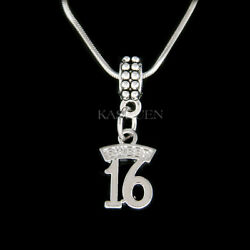 Sweet Turning 16 Years Old 16th Birthday Girl Gift Daughter Charm Chain Necklace
