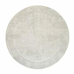 10and039x10and039 Hand Loomed Beige Fine Jacquard Wool And Silk Round Rug R63284