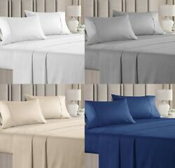 New_ My Pillows Bed Sheets Set 100 Certified Giza Egyptian Long Staple Cotton